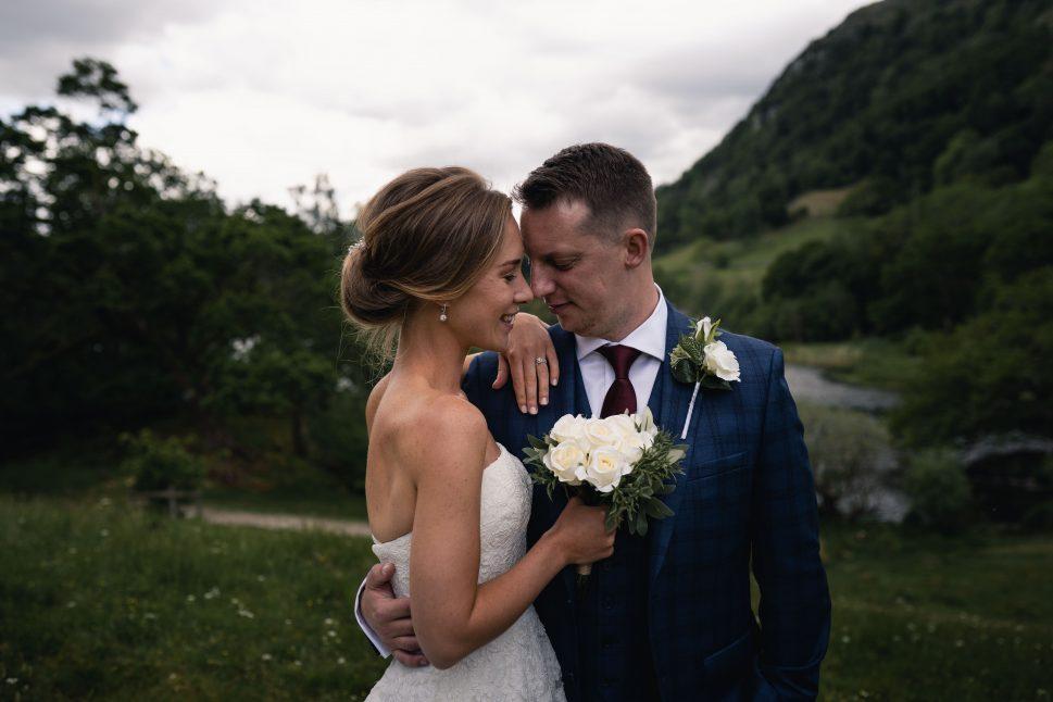 wedding at the lake district mountains